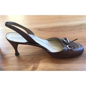 Kate Spade Slingback Kitten Heels Size 8